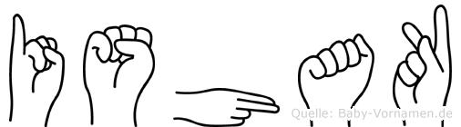 Ishak in Fingersprache für Gehörlose