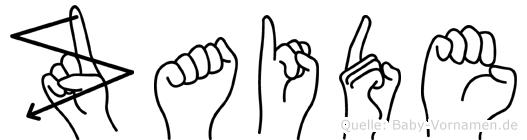 Zaide im Fingeralphabet der Deutschen Gebärdensprache