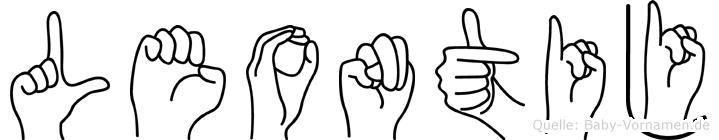 Leontij im Fingeralphabet der Deutschen Gebärdensprache