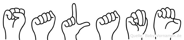 Salane in Fingersprache für Gehörlose