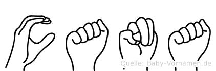 Cana in Fingersprache für Gehörlose