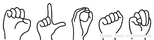 Eloan in Fingersprache für Gehörlose