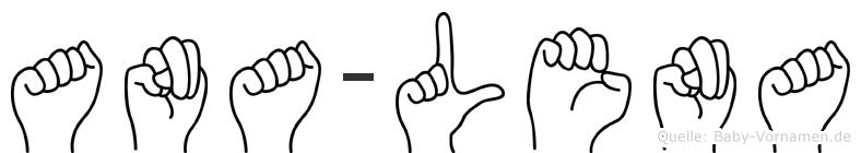 Ana-Lena im Fingeralphabet der Deutschen Gebärdensprache