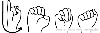 Jena in Fingersprache für Gehörlose