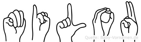 Milou in Fingersprache für Gehörlose