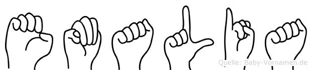 Emalia im Fingeralphabet der Deutschen Gebärdensprache