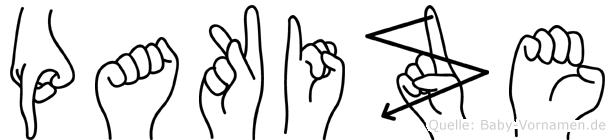 Pakize im Fingeralphabet der Deutschen Gebärdensprache