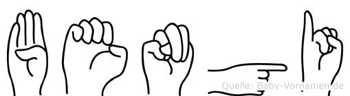 Bengi im Fingeralphabet der Deutschen Gebärdensprache