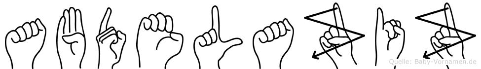 Abdelaziz in Fingersprache für Gehörlose