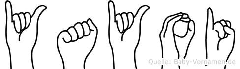 Yayoi im Fingeralphabet der Deutschen Gebärdensprache