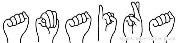 Amaira in Fingersprache für Gehörlose