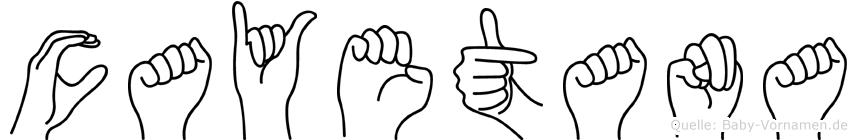 Cayetana im Fingeralphabet der Deutschen Gebärdensprache