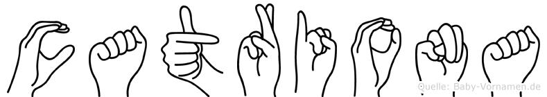 Catriona in Fingersprache für Gehörlose