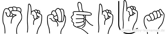 Sintija im Fingeralphabet der Deutschen Gebärdensprache