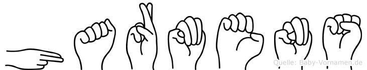 Harmens im Fingeralphabet der Deutschen Gebärdensprache