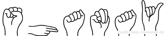 Shanay in Fingersprache für Gehörlose