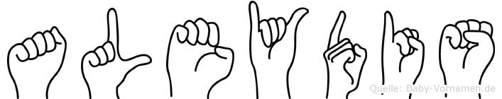 Aleydis in Fingersprache für Gehörlose