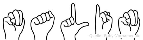Nalin im Fingeralphabet der Deutschen Gebärdensprache