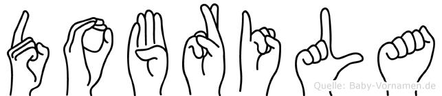 Dobrila im Fingeralphabet der Deutschen Gebärdensprache