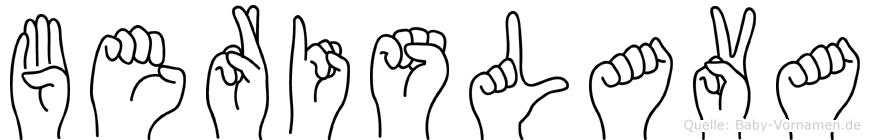 Berislava in Fingersprache für Gehörlose