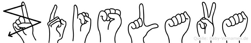 Zdislava im Fingeralphabet der Deutschen Gebärdensprache