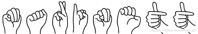 Marinett in Fingersprache für Gehörlose