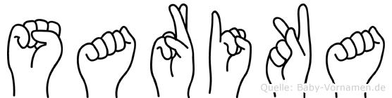 Sarika in Fingersprache für Gehörlose