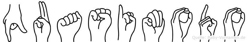 Quasimodo in Fingersprache für Gehörlose