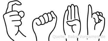 Xabi in Fingersprache für Gehörlose