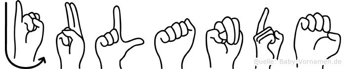 Julande in Fingersprache für Gehörlose