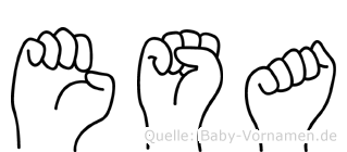 Esa im Fingeralphabet der Deutschen Gebärdensprache