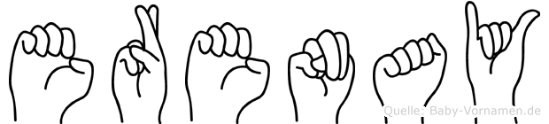 Erenay im Fingeralphabet der Deutschen Gebärdensprache