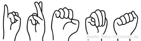 Irema in Fingersprache für Gehörlose