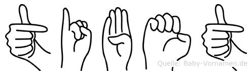 Tibet in Fingersprache für Gehörlose