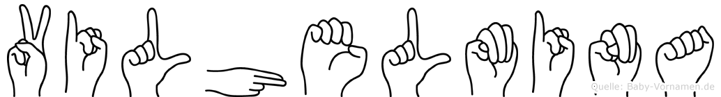 Vilhelmina im Fingeralphabet der Deutschen Gebärdensprache