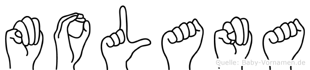 Molana in Fingersprache für Gehörlose
