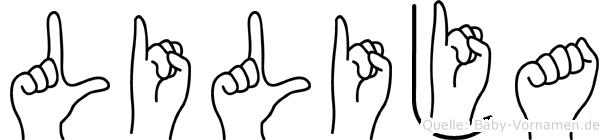 Lilija in Fingersprache für Gehörlose