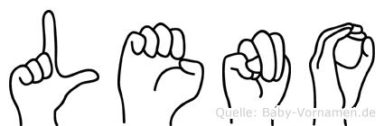 Leno in Fingersprache für Gehörlose