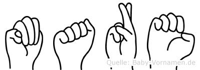 Mare in Fingersprache für Gehörlose