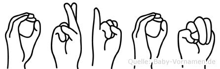 Orion in Fingersprache für Gehörlose