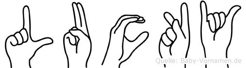 Lucky in Fingersprache für Gehörlose