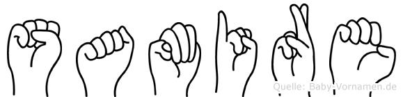 Samire im Fingeralphabet der Deutschen Gebärdensprache