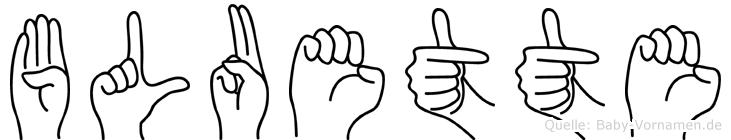 Bluette in Fingersprache für Gehörlose