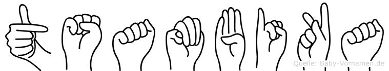 Tsambika in Fingersprache für Gehörlose