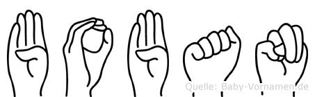 Boban in Fingersprache für Gehörlose