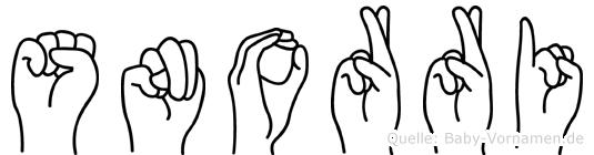 Snorri in Fingersprache für Gehörlose