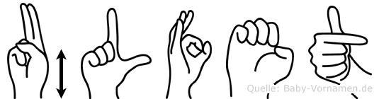 Ülfet im Fingeralphabet der Deutschen Gebärdensprache
