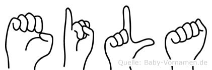 Eila im Fingeralphabet der Deutschen Gebärdensprache