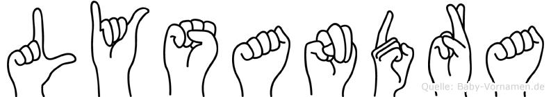Lysandra im Fingeralphabet der Deutschen Gebärdensprache