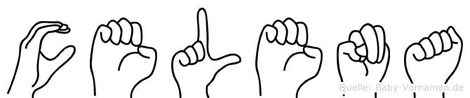 Celena im Fingeralphabet der Deutschen Gebärdensprache